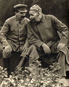 Gorky with Stalin